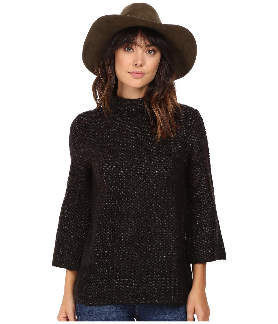 BB Dakota - Braes Mock Neck Sweater (Black) Women's Sweater