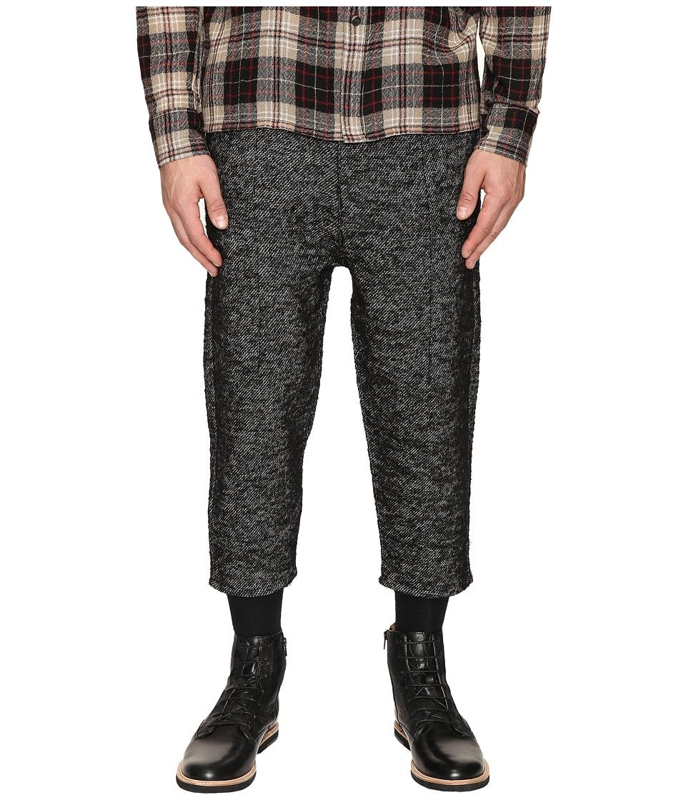 Matiere - Fields Italian Woven Cropped Pants (Jet Black) Men's Casual Pants