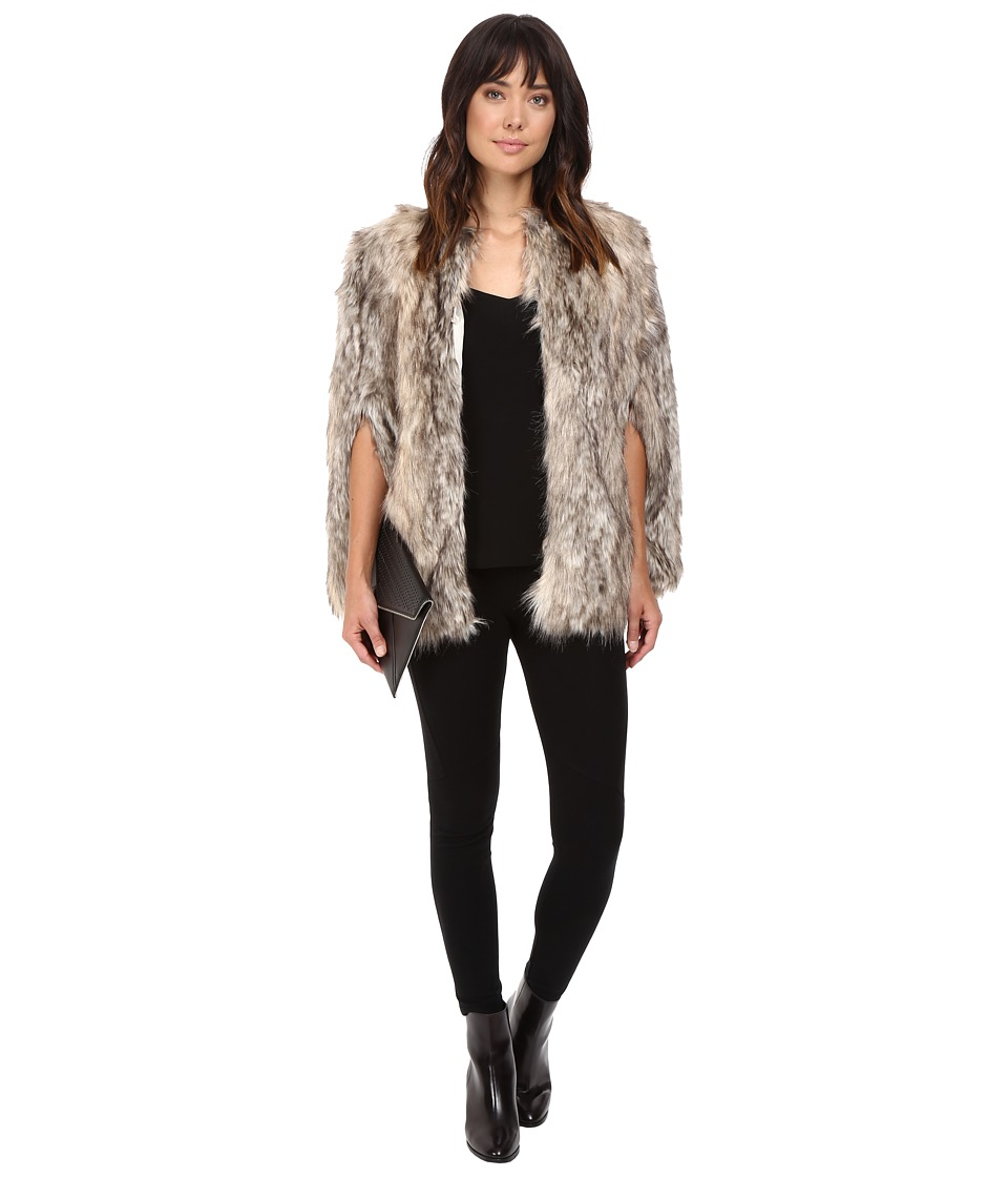 BB Dakota - Whitfield Faux Fur Capelet (Light Brown) Women's Clothing