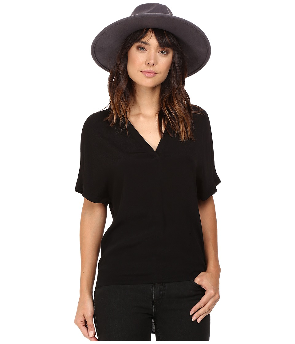 BB Dakota - Hatley Short Sleeve Top (Black) Women's Clothing