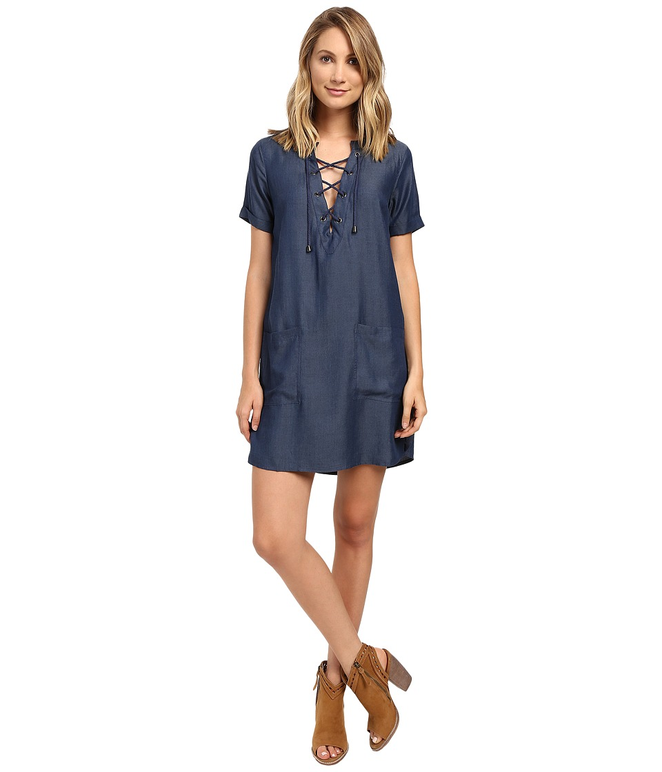 Lovers + Friends - Waterfront Dress (Dark Wash) Women's Dress