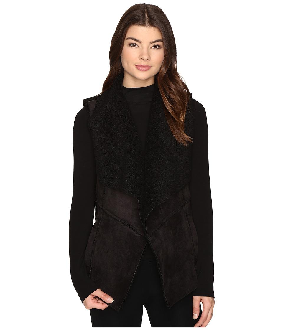 BB Dakota - Goselett Faux Suede Vest (Black) Women's Vest