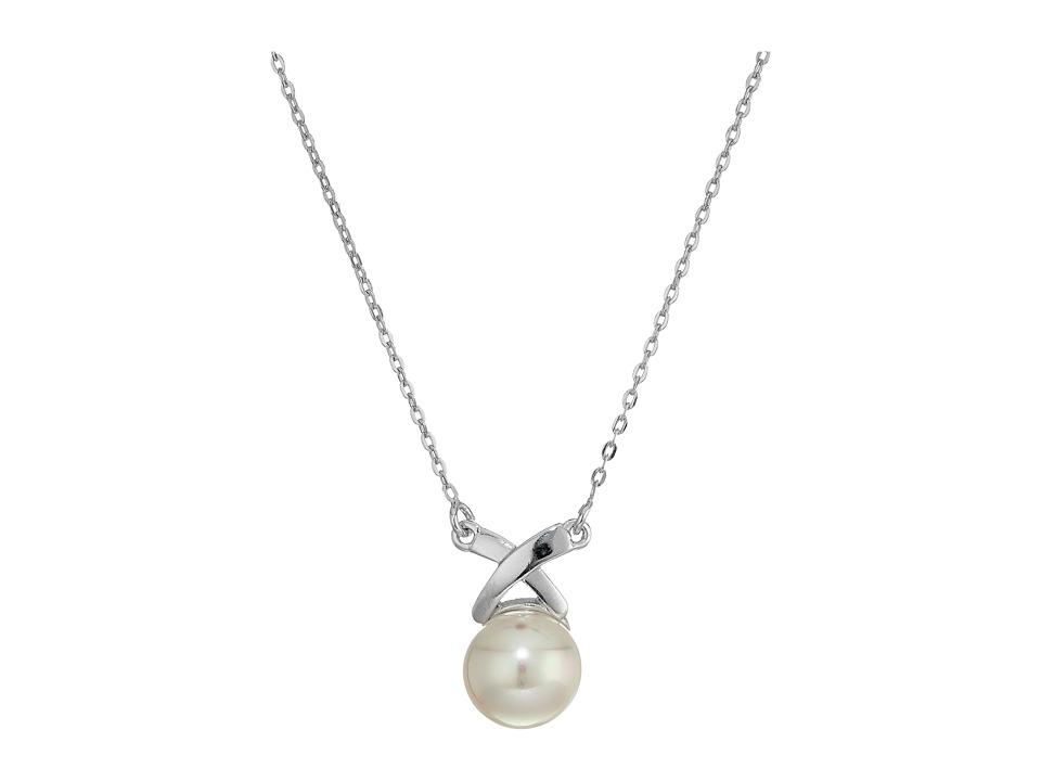 Majorica - TU Y YO X Silver Pendant Necklace (White) Necklace