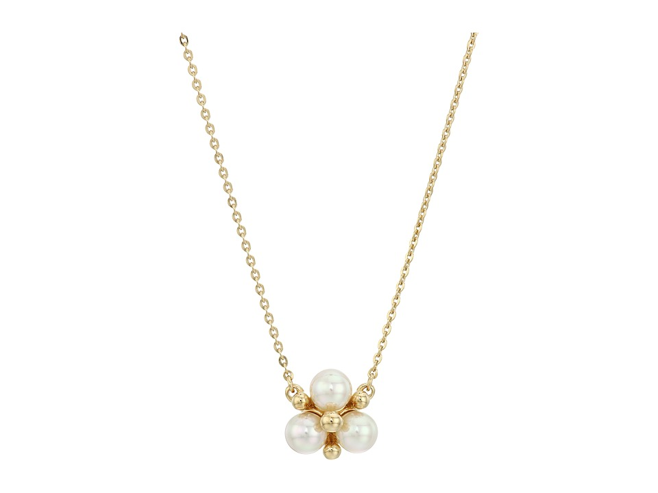 Majorica - TU Y YO Pearl Cluster Gold Pendant Necklace (White) Necklace