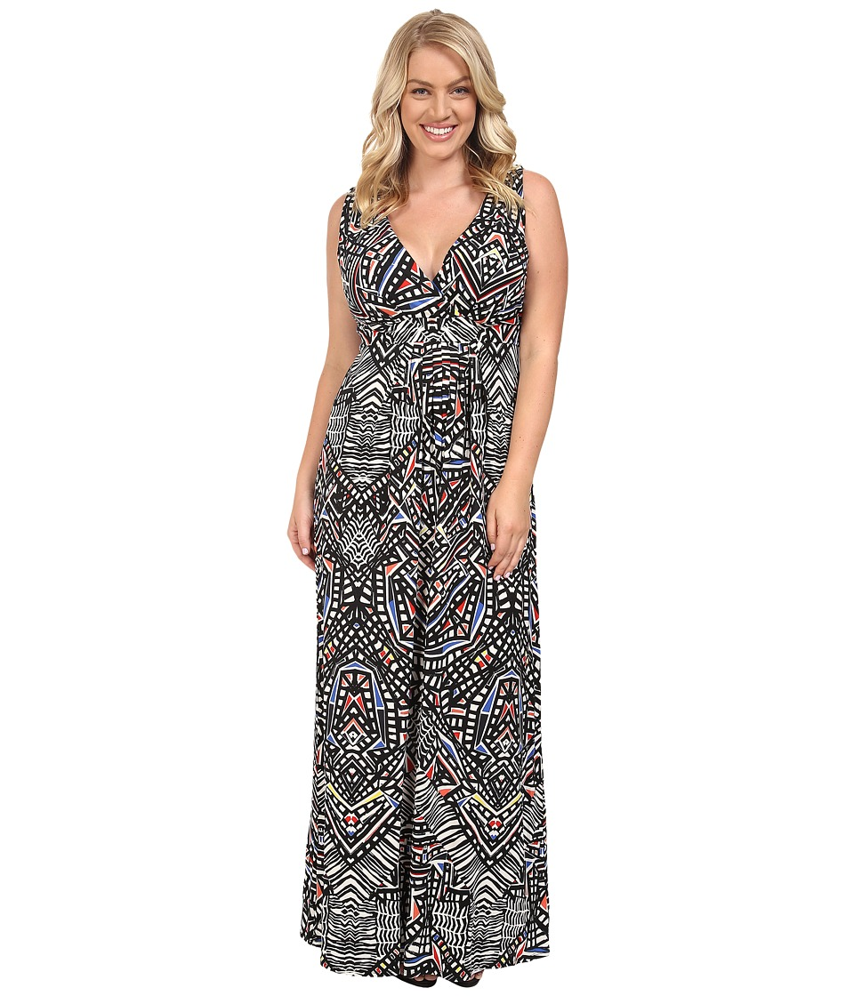 Tart - Plus Size Chloe Maxi Dress (Ink Geometric) Women's Dress