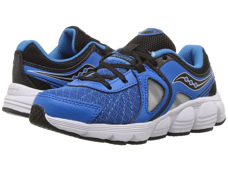 Saucony Kids Kotaro 3 (Little Kid) (Blue/Black/Silver) Boys Shoes