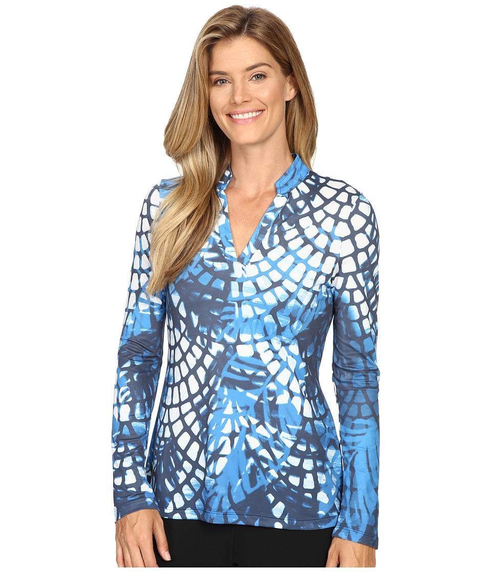 XCVI - Movement by XCVI Fairway Top (Navy Lace) Women's Clothing