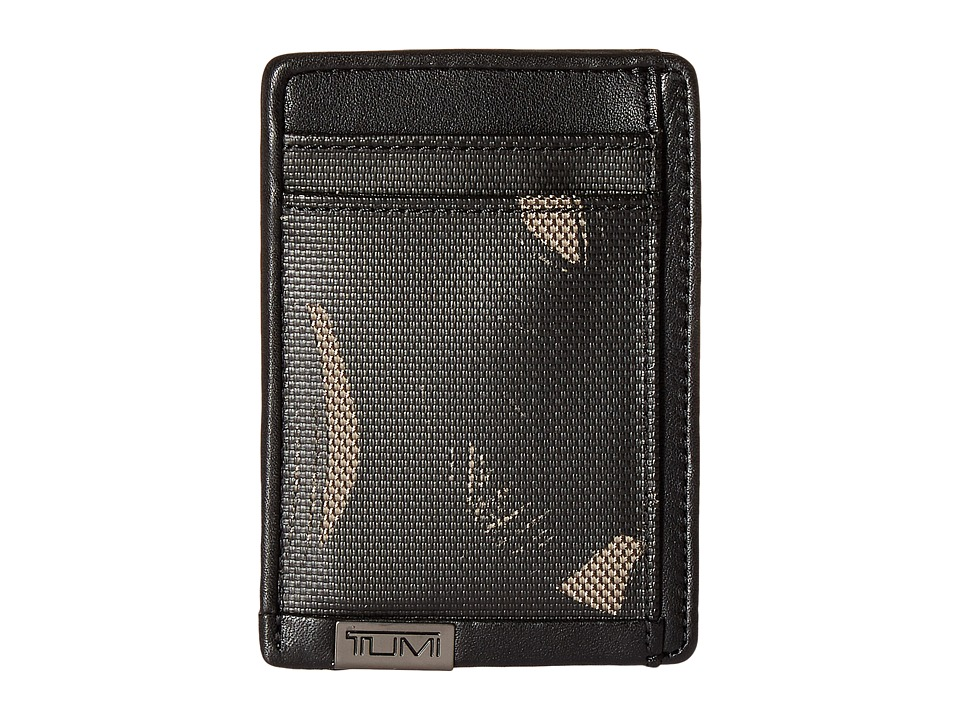 Tumi - Alpha - Money Clip Card Case (Smoke Character Print) Credit card Wallet