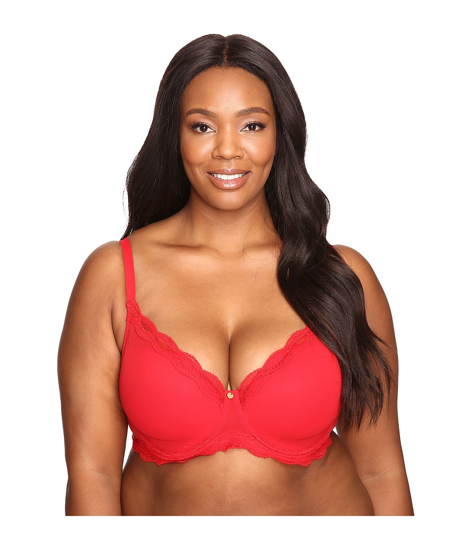 Natori - Pure Allure Full Figure Contour Underwire Bra 736099 (Real Red) Women's Bra