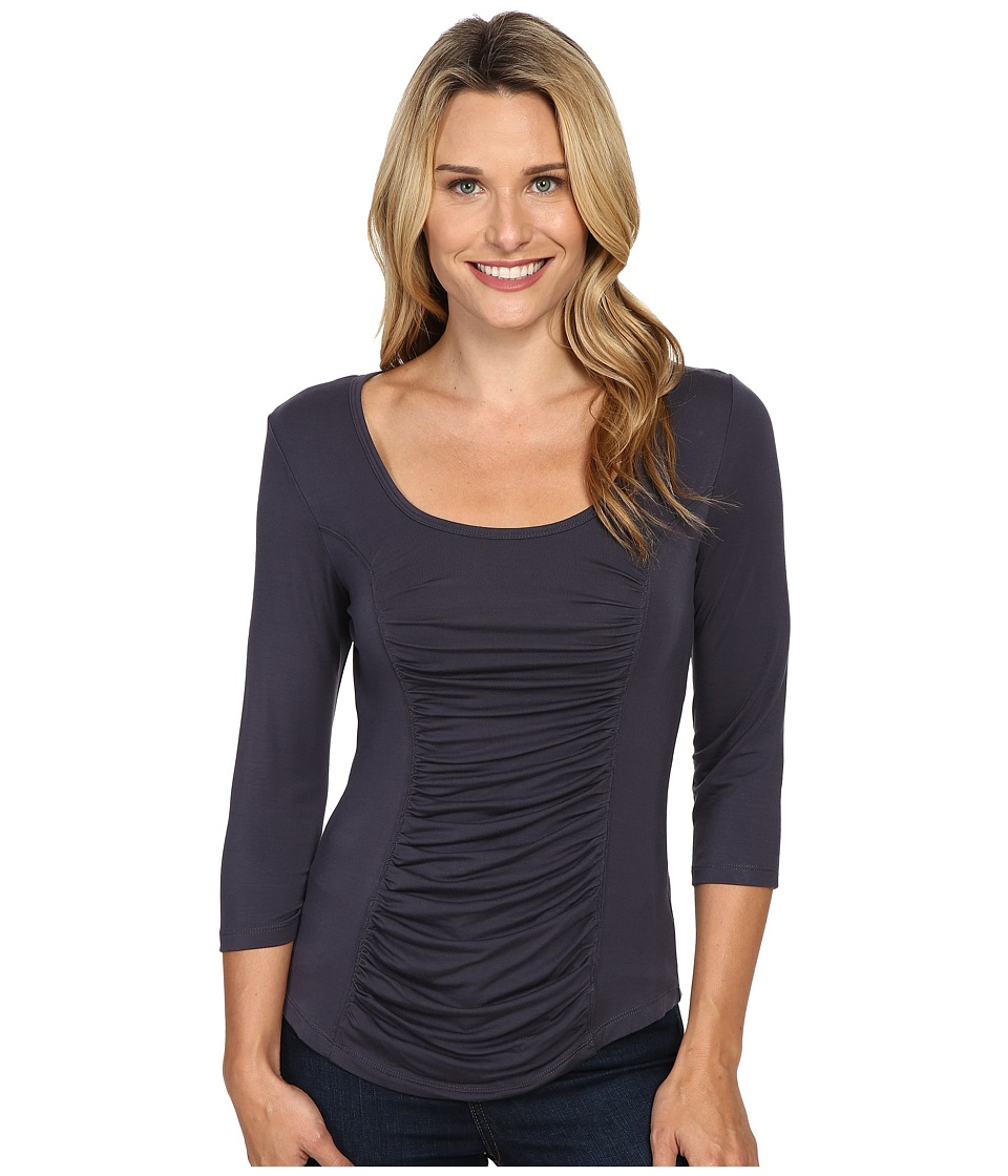 XCVI - Movement by XCVI Chantilly 3/4 Top (Anthrizite) Women's Clothing