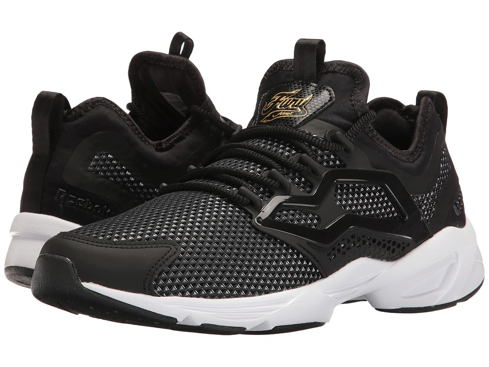 Reebok Lifestyle Fury Adapt Graceful TMI (Black/Gold Metallic/White) Women