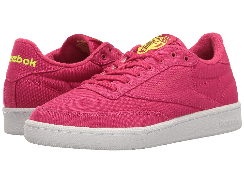 Reebok Lifestyle Club C 85 EH (Pink Craze/Solar Yellow/White) Women