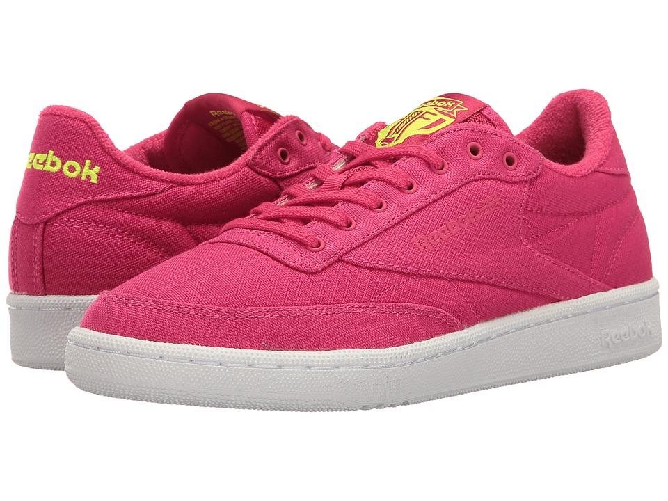 Reebok Lifestyle - Club C 85 EH (Pink Craze/Solar Yellow/White) Women's Shoes