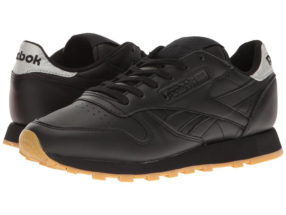 Reebok Lifestyle - Classic Leather Met Diamond (Black/Gum) Women's Shoes