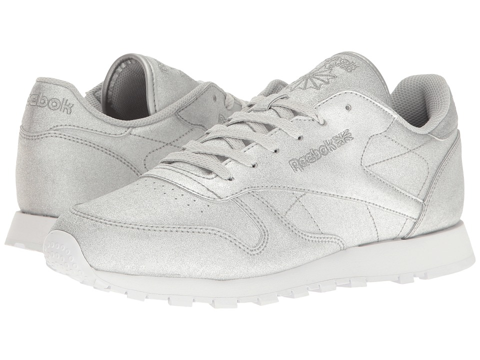 Reebok Lifestyle Classic Leather Syn (Diamond/Silver Metallic/Snow Gray/White) Women