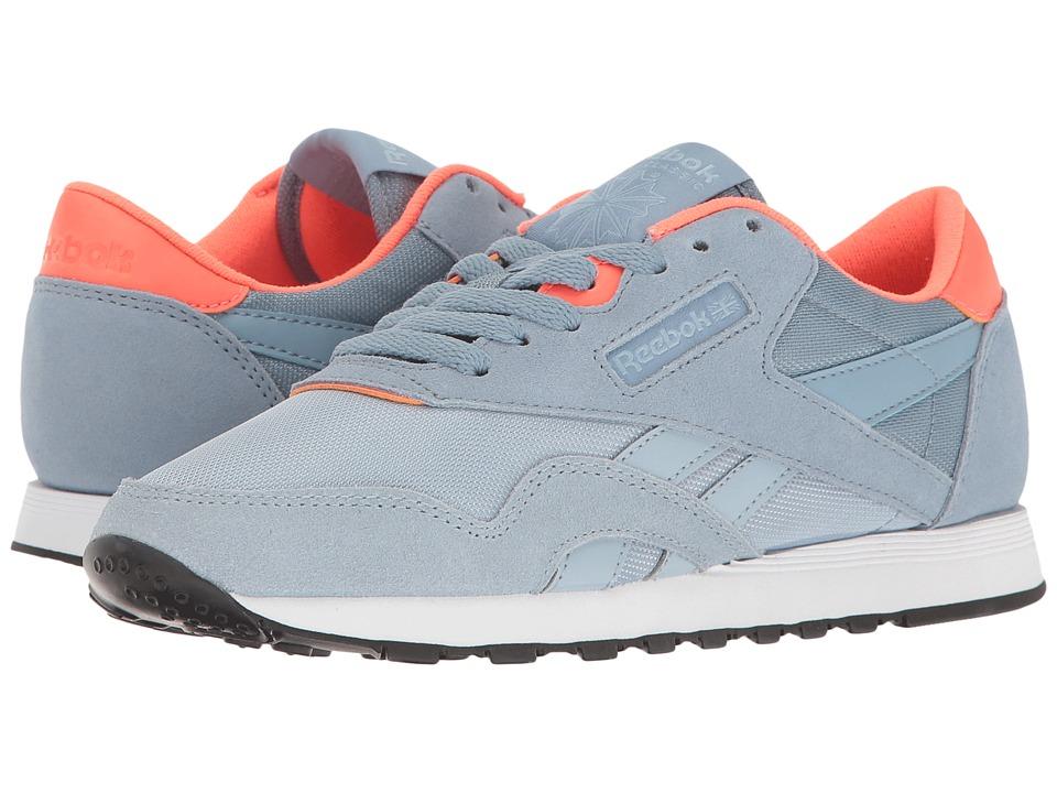 Reebok Lifestyle Classic Nylon MH (Gable Grey/Ceraminc Blue/Purple/Vitamin  C/White) Women's Shoes