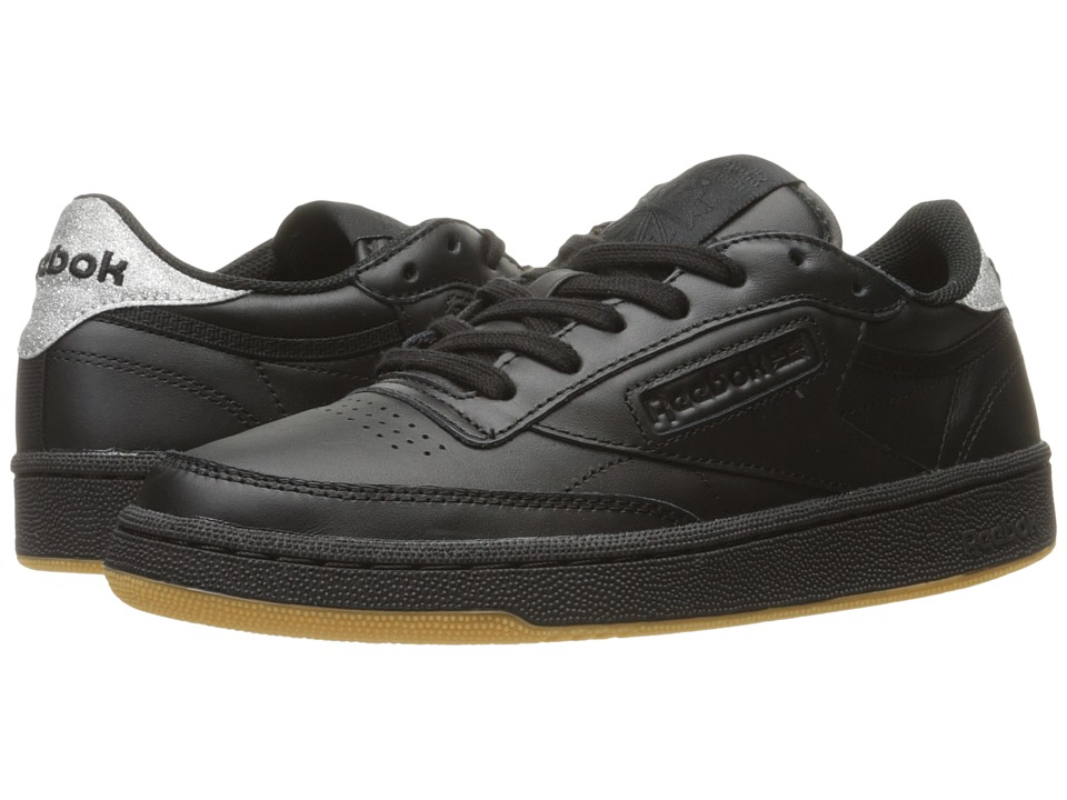 Reebok Lifestyle - Club C 85 Diamond (Black/Gum) Women's Shoes