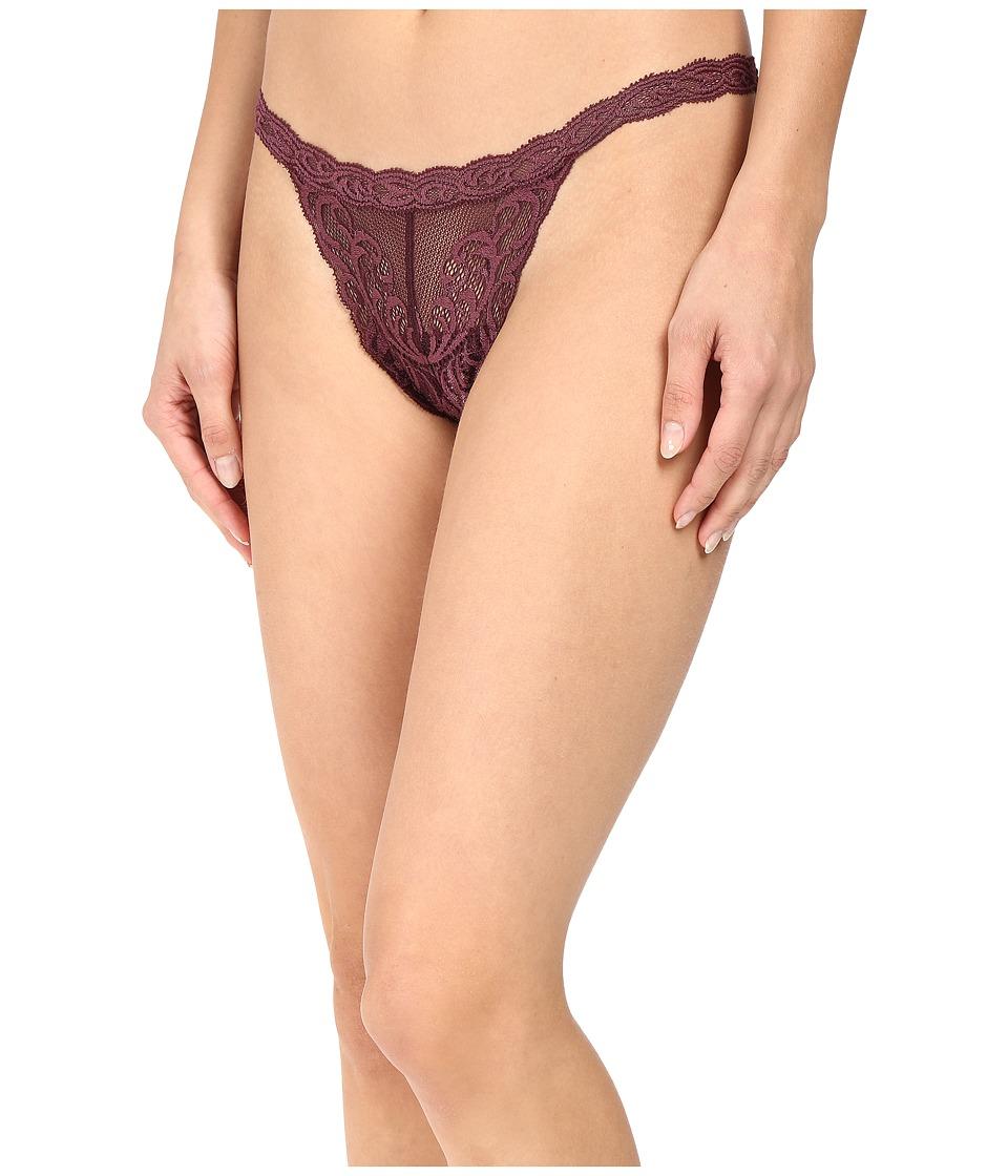 Natori - Feathers Thong (Merlot) Women's Underwear