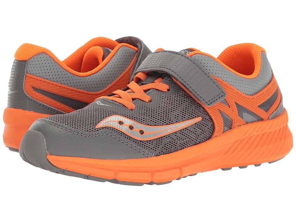 Saucony Kids - Velocity A/C (Little Kid) (Grey/Orange) Boys Shoes