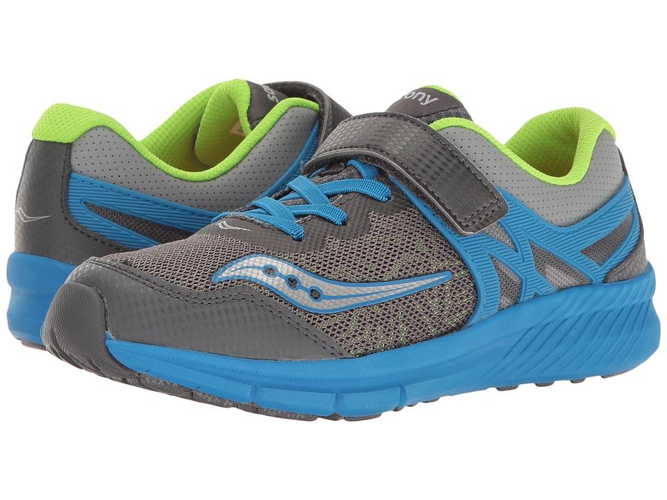 Saucony Kids - Velocity A/C (Little Kid) (Dark Grey/Blue) Boys Shoes