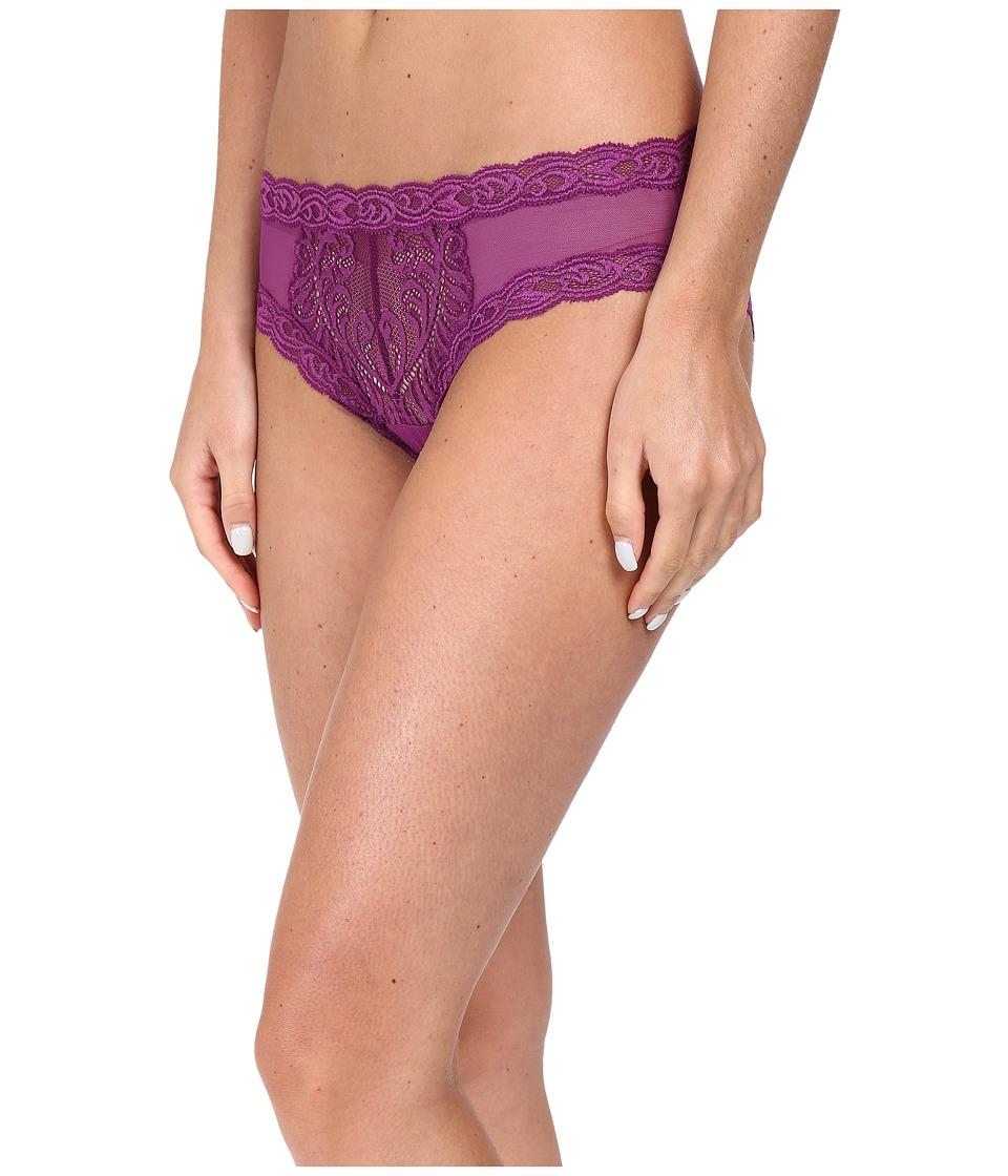 Natori - Feathers Hipster (Pure Violet/Bright Violet) Women's Underwear