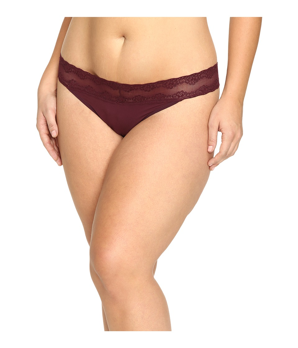 Natori - Bliss Perfection Plus Thong (Merlot) Women's Underwear