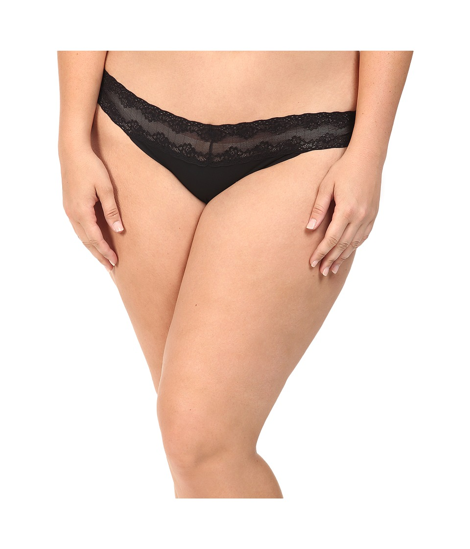 Natori - Bliss Perfection Plus Thong (Black) Women's Underwear