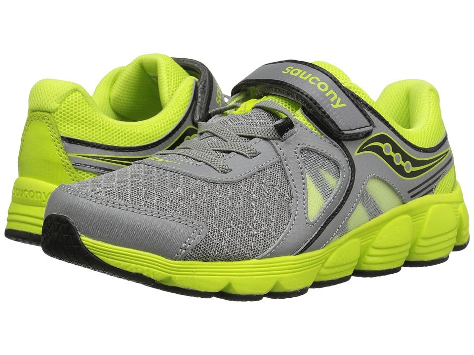 Saucony Kids - Kotaro 3 A/C (Big Kid) (Grey/Lime) Boys Shoes