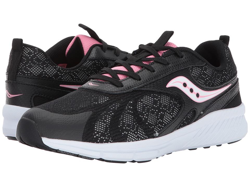 Saucony Kids Velocity (Big Kid) (Black) Girls Shoes