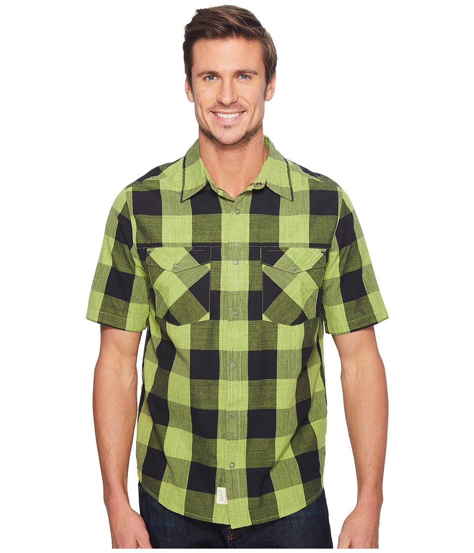 Woolrich - Zephyr Ridge Space Dye Shirt (Leaf Green) Men's Short Sleeve Button Up