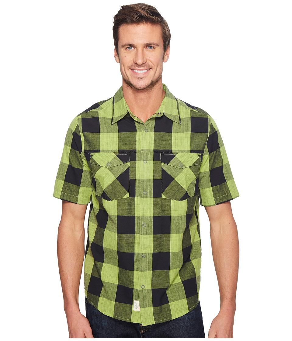 Woolrich - Zephyr Ridge Space Dye Shirt (Leaf Green) Men's Short Sleeve Button Up