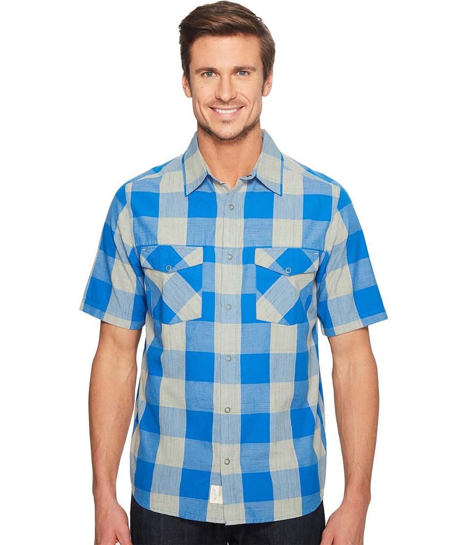 Woolrich - Zephyr Ridge Space Dye Shirt (Summer Sky) Men's Short Sleeve Button Up