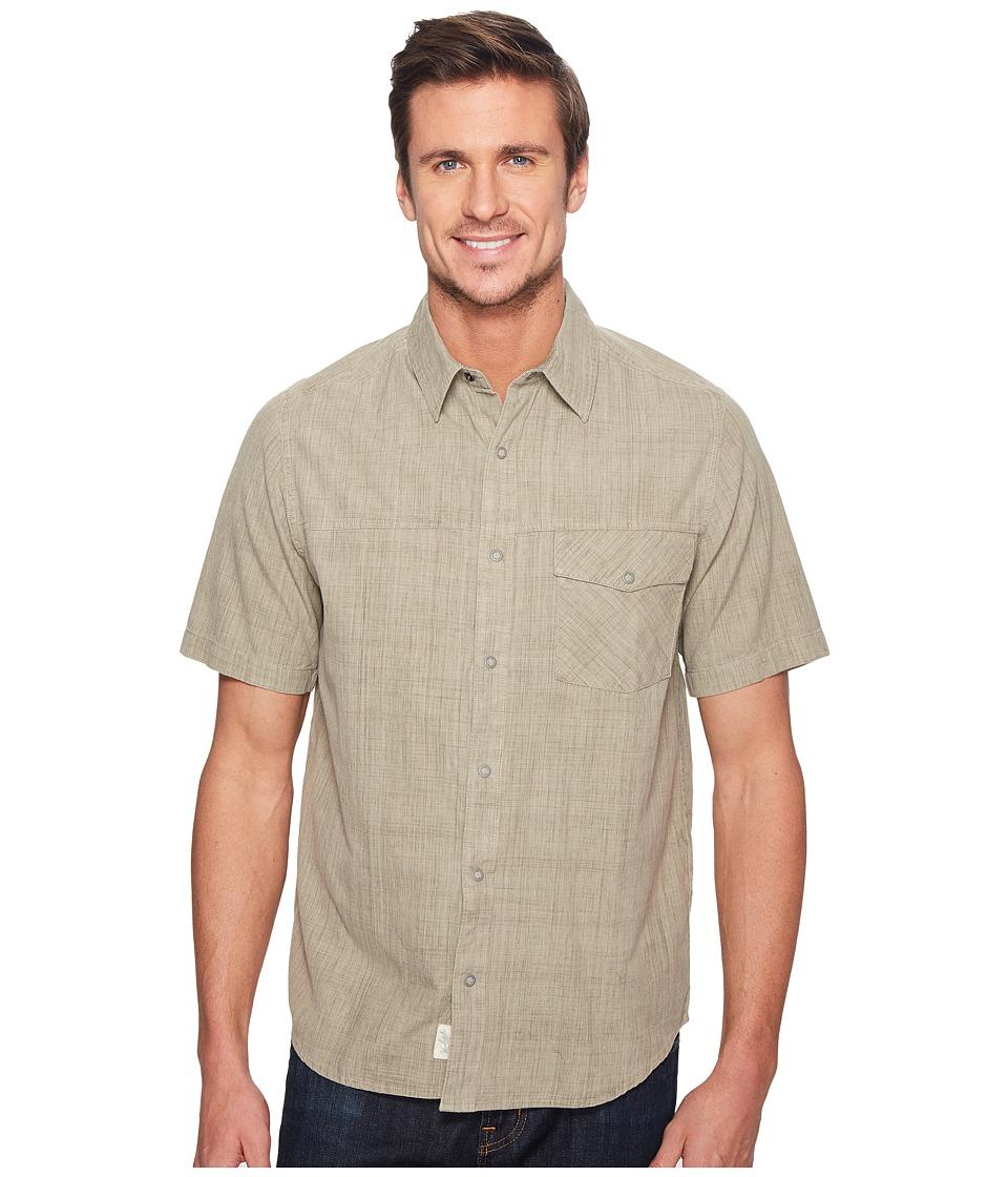 Woolrich - Zephyr Ridge Solid Shirt (British Tan) Men's Short Sleeve Button Up