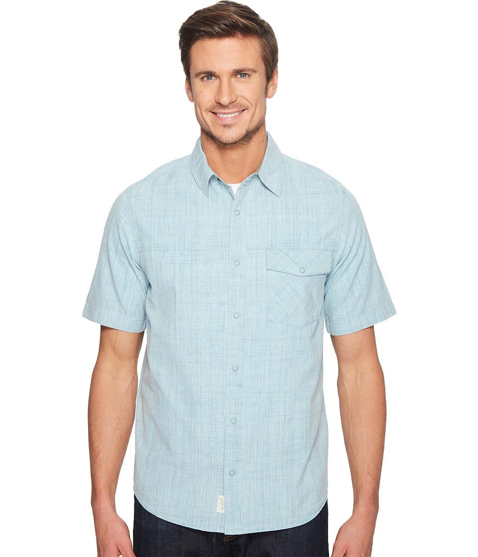 Woolrich - Zephyr Ridge Solid Shirt (Cloud Blue) Men's Short Sleeve Button Up