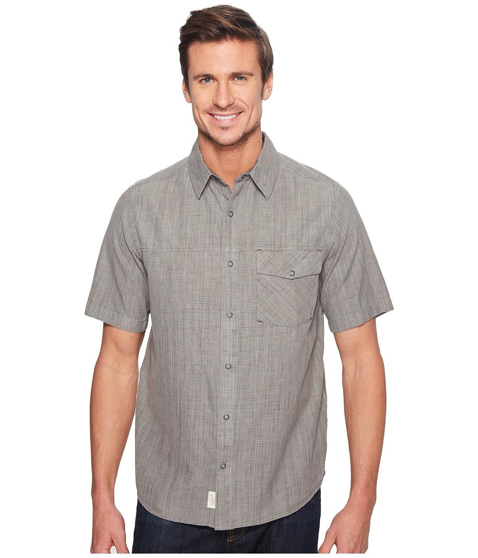 Woolrich - Zephyr Ridge Solid Shirt (Steel Gray) Men's Short Sleeve Button Up