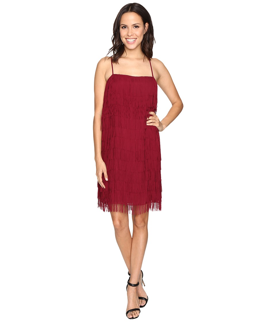 rsvp - Nashville Fringe Dress (Burgundy) Women's Dress