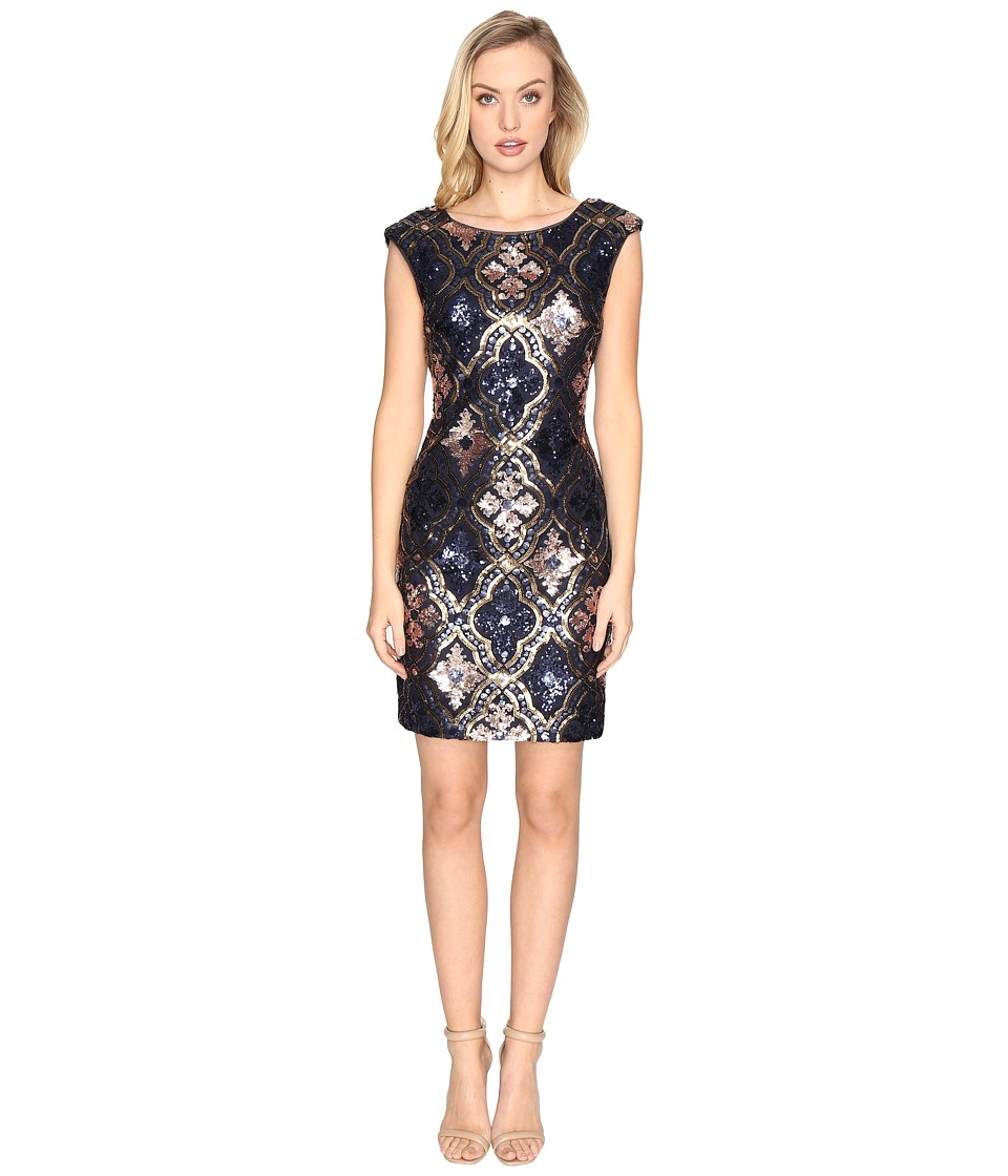 rsvp Newport Sequin Dress (Navy/Gold) Women