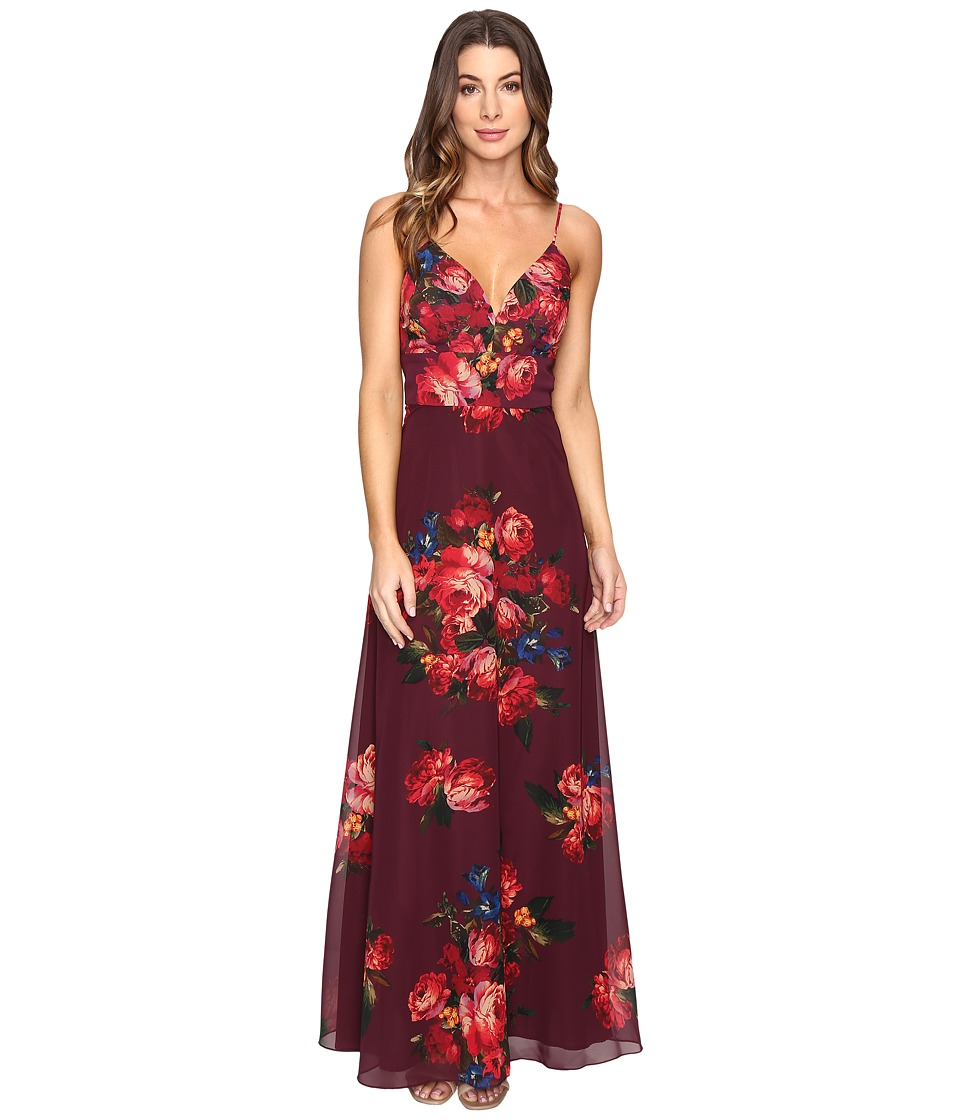 rsvp - Milan Printed Gown (Red Multi) Women's Dress
