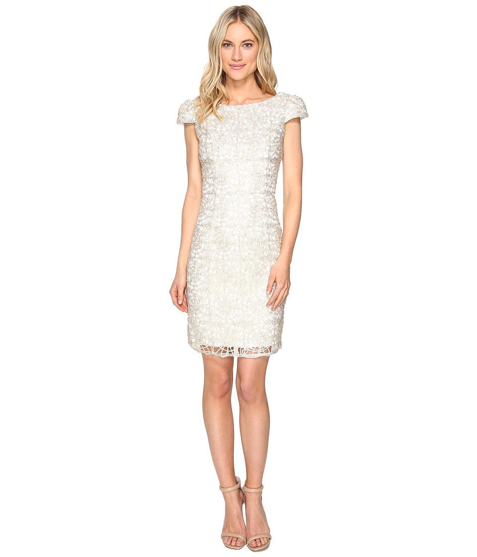 rsvp - Norris Sequin Lace Dress (Ivory/Gold) Women's Dress
