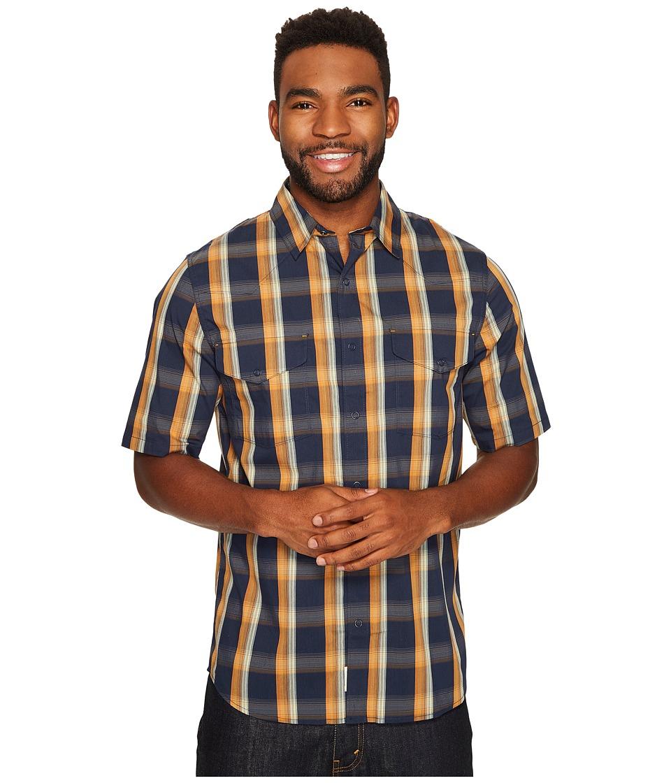 Woolrich - Desert View Shirt (Deep Indigo) Men's Short Sleeve Button Up
