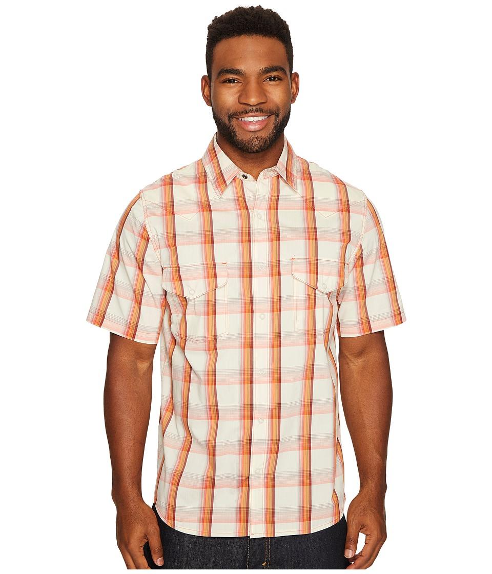 Woolrich - Desert View Shirt (Wool Cream) Men's Short Sleeve Button Up