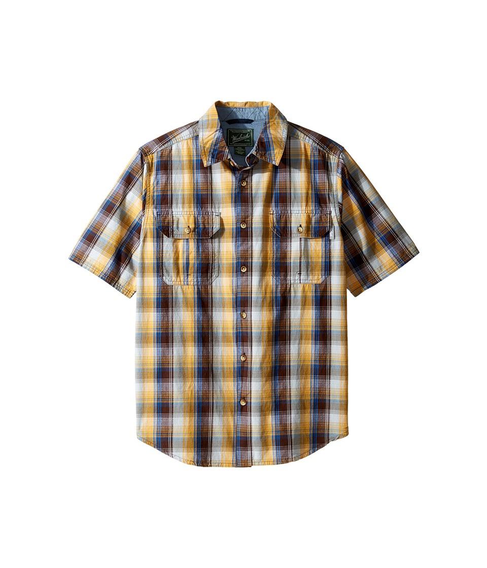 Woolrich - Midway Yarn-Dye Shirt Modern Fit (Pinecone) Men's Short Sleeve Button Up