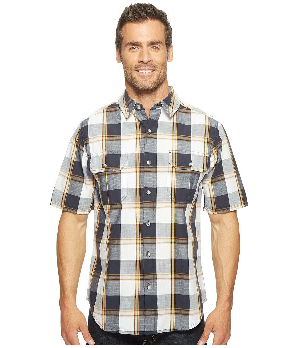 Woolrich - Midway Yarn-Dye Shirt Modern Fit (Deep Indigo Plaid) Men's Short Sleeve Button Up