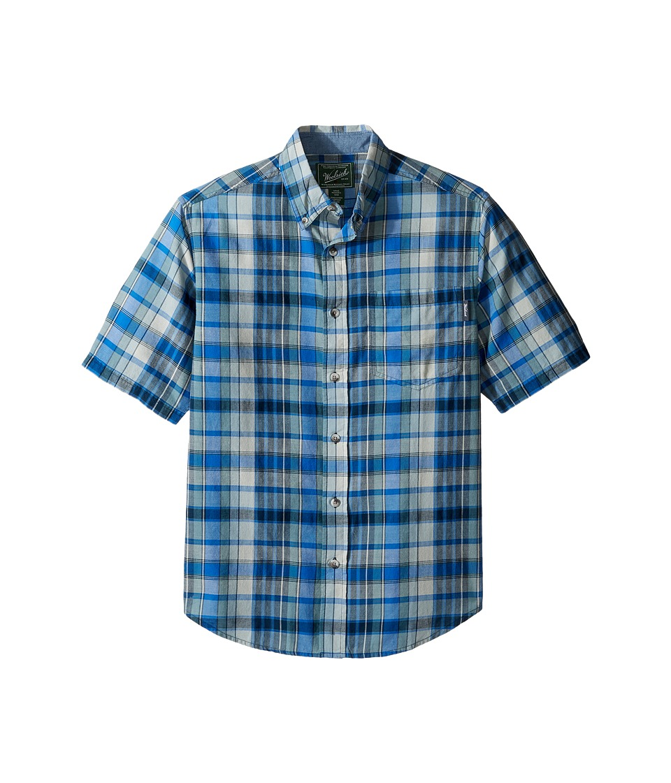 Woolrich - Timberline Shirt (Deep Indigo) Men's Short Sleeve Button Up