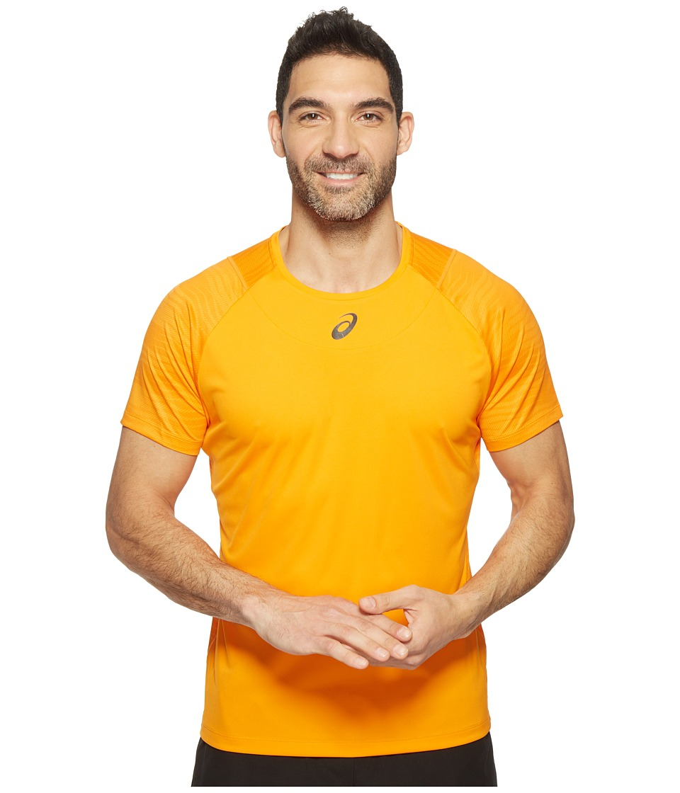 ASICS - Tennis Club Challenger GPX Top (Orange Pop) Men's T Shirt