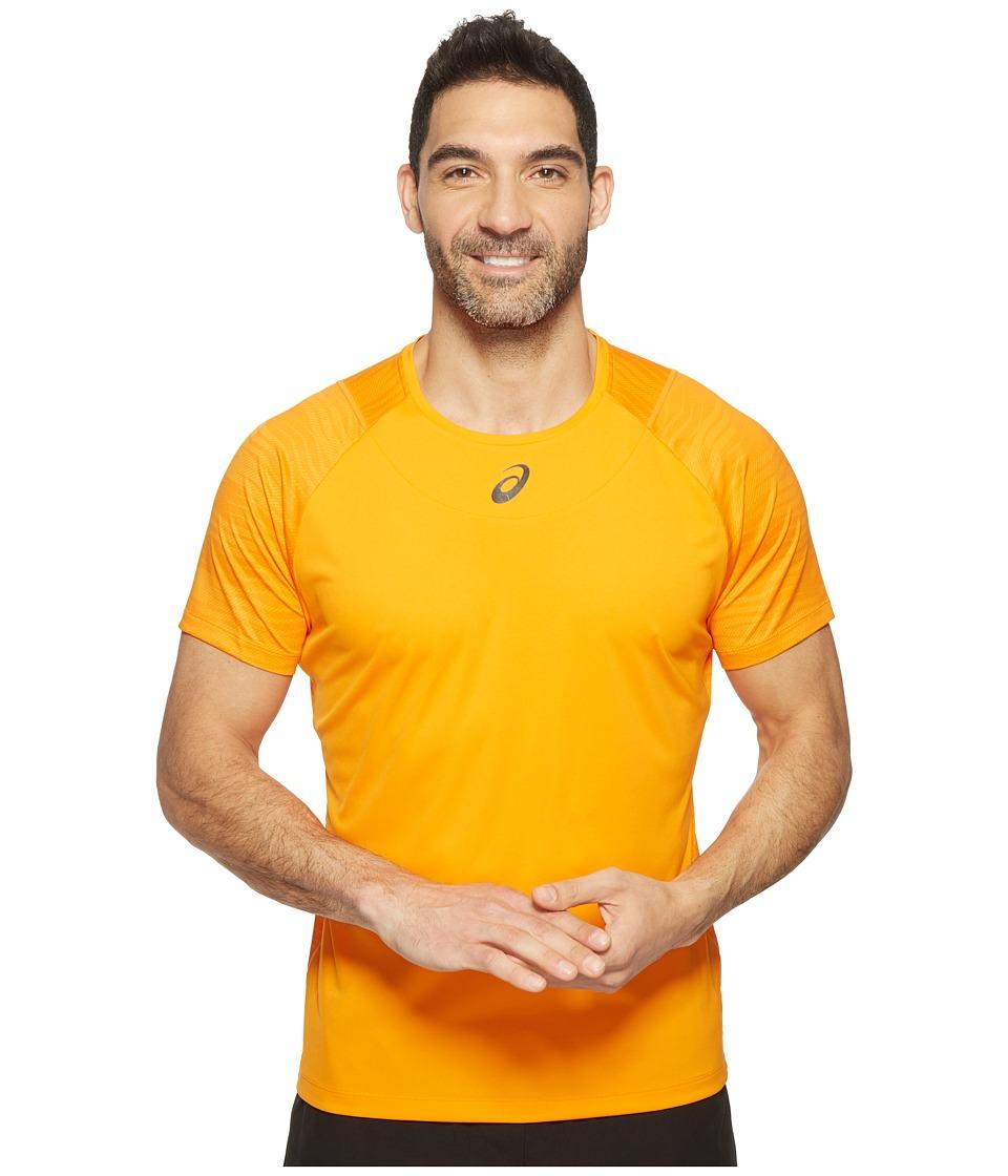ASICS - Tennis Club Challenger GPX Top (Orange Pop) Men's T Shirt