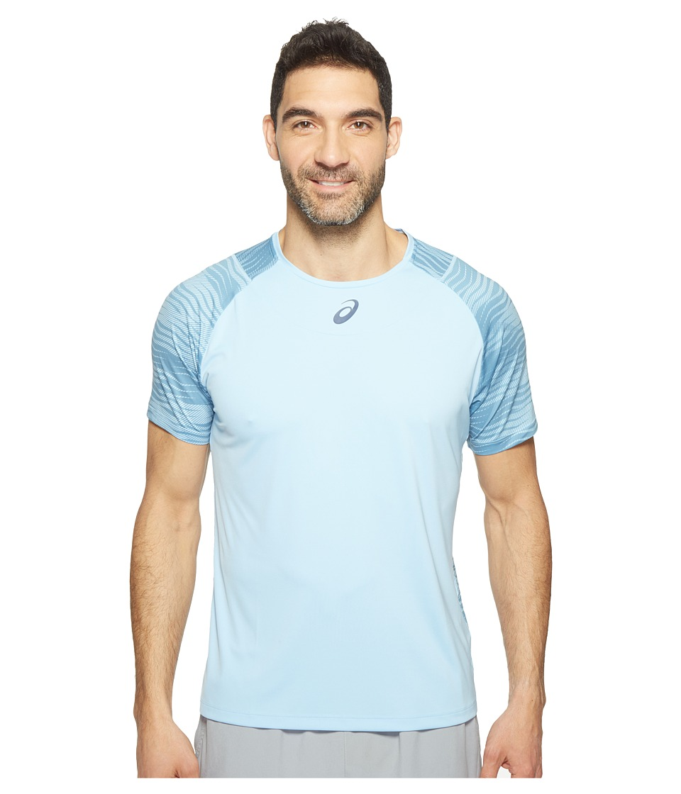 ASICS - Tennis Club Challenger GPX Top (Powder Blue) Men's T Shirt