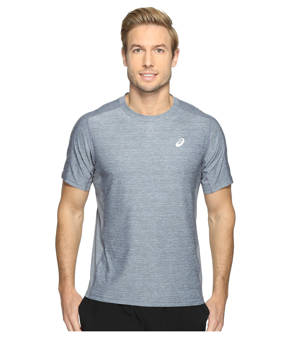 ASICS - Lite-Show Short Sleeve Tee (Powder Blue Heather) Men's T Shirt