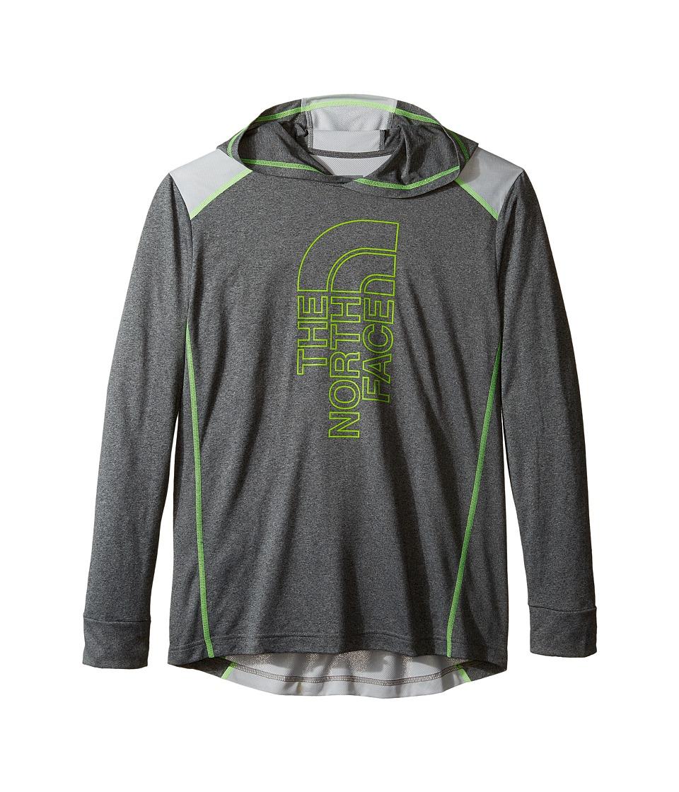 The North Face Kids - Long Sleeve Reactor Hoodie (Little Kids/Big Kids) (TNF Medium Grey Heather/High-Rise Grey (Prior Season)) Boy's Sweatshirt