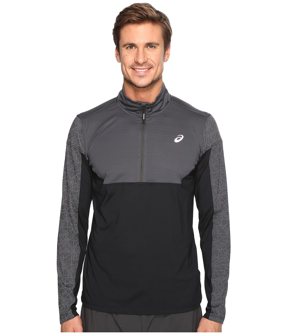 ASICS - Lite-Show 1/2 Zip Top (Dark Grey/Performance Black) Men's Sweatshirt